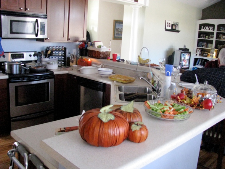 My kitchen before the feast.